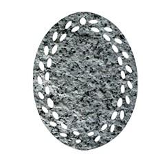 Rough Grey Stone Ornament (oval Filigree)