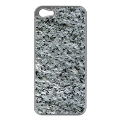 ROUGH GREY STONE Apple iPhone 5 Case (Silver)