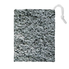 ROUGH GREY STONE Drawstring Pouches (Extra Large)