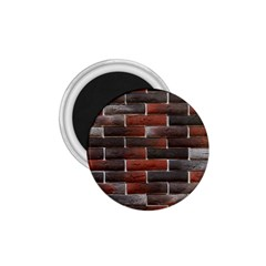 RED AND BLACK BRICK WALL 1.75  Magnets