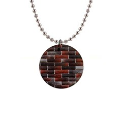 RED AND BLACK BRICK WALL Button Necklaces