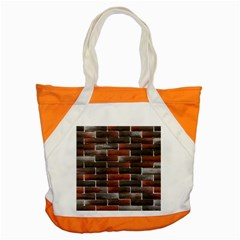 RED AND BLACK BRICK WALL Accent Tote Bag