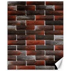 RED AND BLACK BRICK WALL Canvas 16  x 20