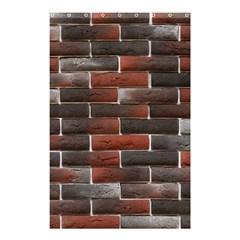 RED AND BLACK BRICK WALL Shower Curtain 48  x 72  (Small)