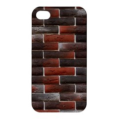 RED AND BLACK BRICK WALL Apple iPhone 4/4S Premium Hardshell Case