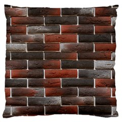 RED AND BLACK BRICK WALL Large Cushion Cases (One Side)