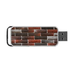RED AND BLACK BRICK WALL Portable USB Flash (Two Sides)