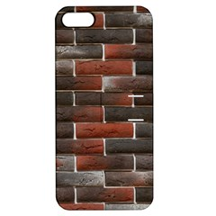 RED AND BLACK BRICK WALL Apple iPhone 5 Hardshell Case with Stand