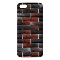 RED AND BLACK BRICK WALL iPhone 5S Premium Hardshell Case