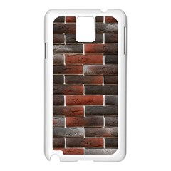 RED AND BLACK BRICK WALL Samsung Galaxy Note 3 N9005 Case (White)