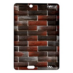 RED AND BLACK BRICK WALL Kindle Fire HD (2013) Hardshell Case