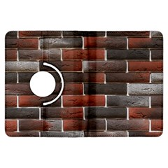 RED AND BLACK BRICK WALL Kindle Fire HDX Flip 360 Case