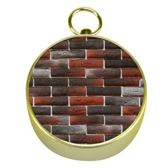 RED AND BLACK BRICK WALL Gold Compasses