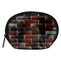 RED AND BLACK BRICK WALL Accessory Pouches (Medium)
