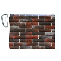 RED AND BLACK BRICK WALL Canvas Cosmetic Bag (XL)