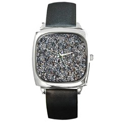 PEBBLE BEACH Square Metal Watches