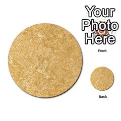 Noce Travertine Multi Purpose Cards (round)