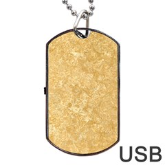 Noce Travertine Dog Tag Usb Flash (one Side)