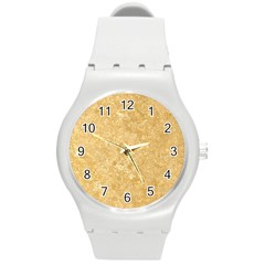 NOCE TRAVERTINE Round Plastic Sport Watch (M)