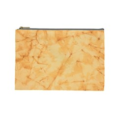 MARBLE LIGHT TAN Cosmetic Bag (Large)