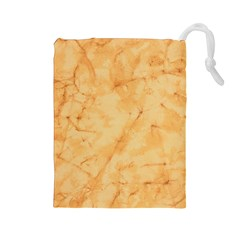Marble Light Tan Drawstring Pouches (large)