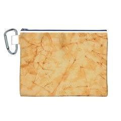 MARBLE LIGHT TAN Canvas Cosmetic Bag (L)