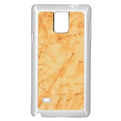 MARBLE LIGHT TAN Samsung Galaxy Note 4 Case (White)