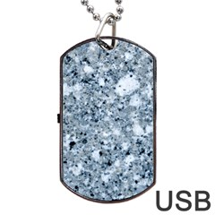 Marble Light Grey Dog Tag Usb Flash (one Side)