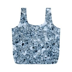 MARBLE LIGHT GREY Full Print Recycle Bags (M)