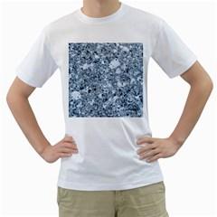 MARBLE LIGHT GREY Men s T-Shirt (White)