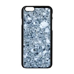 MARBLE LIGHT GREY Apple iPhone 6/6S Black Enamel Case