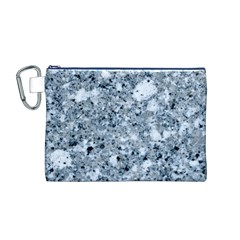 MARBLE LIGHT GREY Canvas Cosmetic Bag (M)