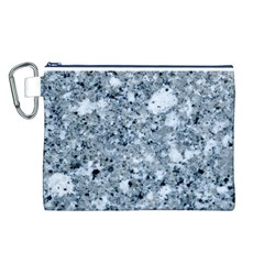MARBLE LIGHT GREY Canvas Cosmetic Bag (L)