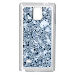 MARBLE LIGHT GREY Samsung Galaxy Note 4 Case (White)