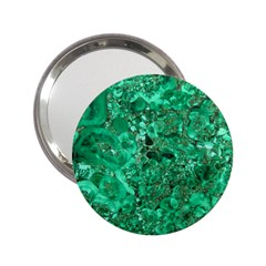 Marble Green 2 25  Handbag Mirrors