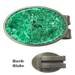 MARBLE GREEN Money Clips (Oval)
