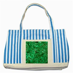 MARBLE GREEN Striped Blue Tote Bag