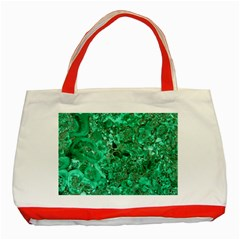 MARBLE GREEN Classic Tote Bag (Red)