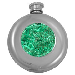 MARBLE GREEN Round Hip Flask (5 oz)