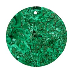 MARBLE GREEN Round Ornament (Two Sides)