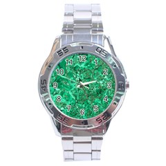 MARBLE GREEN Stainless Steel Men s Watch