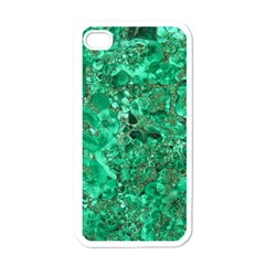 MARBLE GREEN Apple iPhone 4 Case (White)