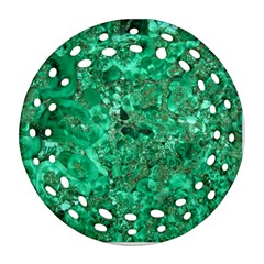 MARBLE GREEN Round Filigree Ornament (2Side)