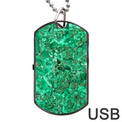 MARBLE GREEN Dog Tag USB Flash (Two Sides)