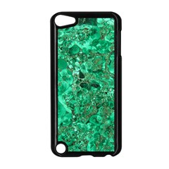MARBLE GREEN Apple iPod Touch 5 Case (Black)