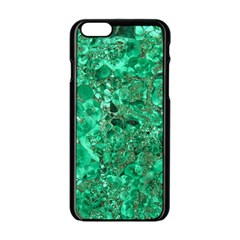 MARBLE GREEN Apple iPhone 6/6S Black Enamel Case