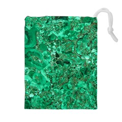 MARBLE GREEN Drawstring Pouches (Extra Large)
