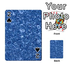 Marble Blue Playing Cards 54 Designs