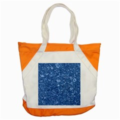 MARBLE BLUE Accent Tote Bag