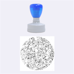 Marble Blue Rubber Round Stamps (medium)